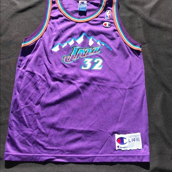 pretty nice bf9f8 33dd4 Vintage Utah Jazz Karl Malone jersey
